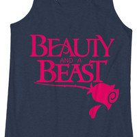 Beauty and a Beast -  Fitness Workout Tank Leg Day Tanktop Gym
