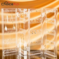 CHOICE FUN 2017 New Arrival Jewelry Display Jewelry Organizer Earring Organizer Acrylic Jewelry Organizer Holder SF-84003