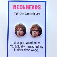 Tyrion Lannister Game of Thrones  earrings