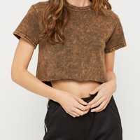Acid Wash Short Sleeve Crop Top | Short Sleeve | rue21
