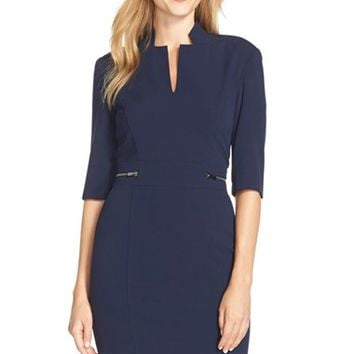 Women's Tahari Bi-Stretch Sheath Dress,