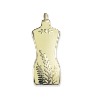 Dress Form Enamel Pin (Beige and Black)