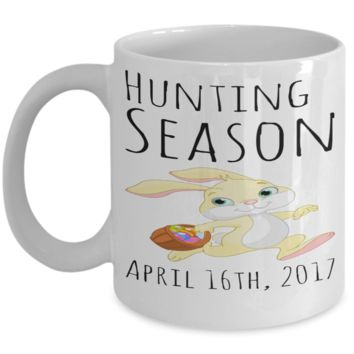 Fun Kid Mug White Ceramic Cup For Children White Bpa Free Chocolate Cookies Jar Coloring Marker Holder Drink Mugs For Cocoa Milk Juice Best Affordable Holiday Gift For Kids 2017 2018 Bunny Rabbit Hunting Season April 16th 2017 2018
