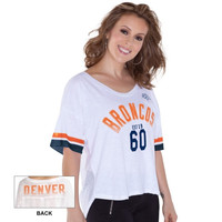 Denver Broncos Touch by Alyssa Milano Women's Hadley T-Shirt - White