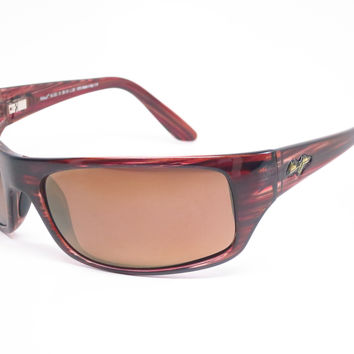 Maui Jim Peahi MJ 202-10 BurgundyTortoise Polarized Sunglasses