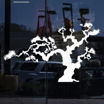 Window and Wall Vinyl Decal Japanese Bonsai Tree Nature Decor Japan Island  Unique Gift (m612w)