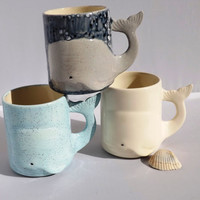 Whale Mug Handmade Ceramic from my Charleston, SC Studio