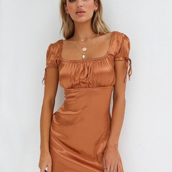 Buy Our Tyra Dress in Tan Online Today! - Tiger Mist