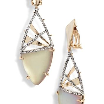 Alexis Bittar Crystal Crosshatch Lucite® Earrings | Nordstrom