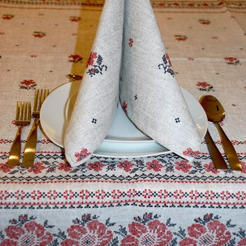 "Cotton table cloth ""Rogozha"". 3 sizes"