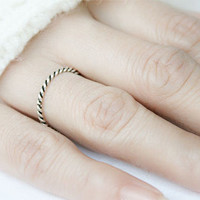 Twist(2 mm) Silver Ring Sterling Ring .925 Silver Ring Personalized Ring