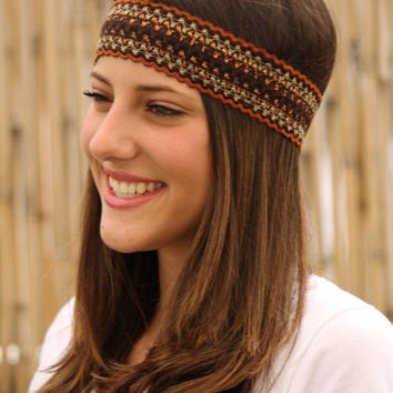 Ethnic Headband, Elastic Headband, Women Hair Accessories, Tribal, Hair,Turban Head, Handmade Head band, Native Style, Stretchy Headbands