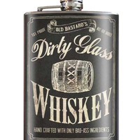 Dirty Glass Flask 8 oz. Stainless Steel