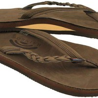 Flirty Braidy Leather Sandal in Expresso by Rainbow Sandals