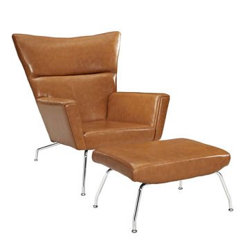 CLASS LEATHER LOUNGE CHAIR IN WHITE