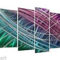 Contemporary Modern Abstract Metal Wall Art Sculpture Painting,Wall Dec by Wasun