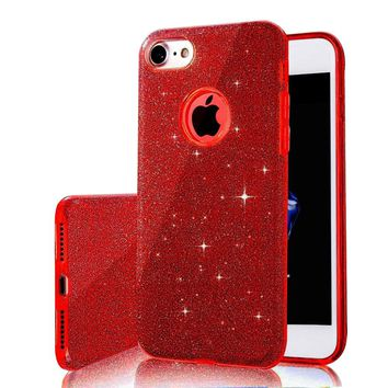 Multiple Colors Gradient Glitter  iPhone Case
