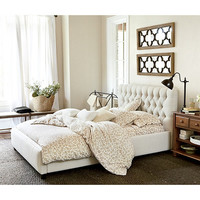 Phoebe Tufted King Bed | Upholstery | Ballard Designs