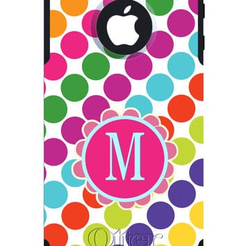 OTTERBOX COMMUTER iPhone 5 5S 5C 4/4S Case Custom Striped Polka Flower Name Initial Personalized Monogram