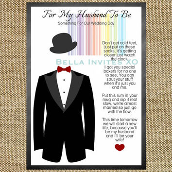 Groom Gift Idea, Wedding Day Gift for Groom, Wedding Day Card for Groom, DIY  Printable wedding card, 5X7 INSTANT DOWNLOAD