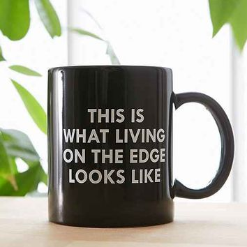 Broad City Living on the Edge Mug- Black One