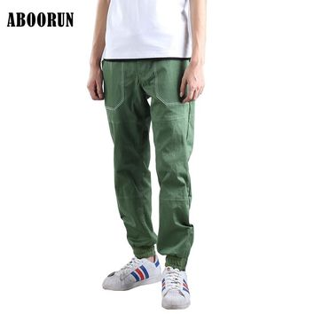 2017 New Spring Mens Loose Joggers Comfortable Sweatpants Army Green Casual Harem Pencil Trousers A2010