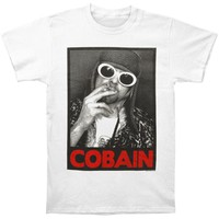 Nirvana Men's  Kurt Cobain Smoking Box Photo Regular Mens T T-shirt White