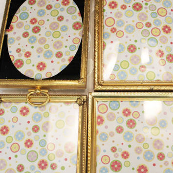 Small Gold Picture Frame - Ornate Brass Frames - Small Photo Frame Collection - Convex Glass