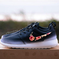 Floral Roshe Run Custom Black White Roses (Limited Stock)