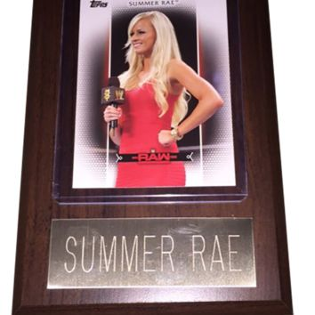 "Summer Rae 4"" x 6"" WWE Women's Wrestling Plaque"