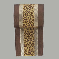 Christmas Ribbon - Leopard Print