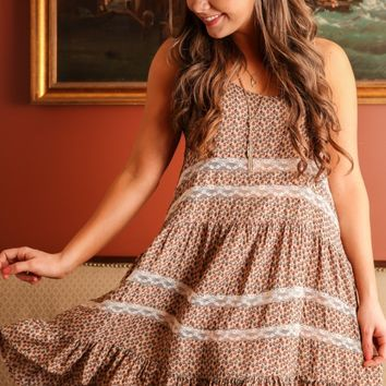 Forget Me Never Dress-Taupe