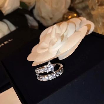 Chanel coco crush High New ring leopard ring diamond drill hollowed out Cartier Trinity Ring S925 Sterling Silver 18 K gold