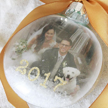 Christmas ornament, photo ornament, custom ornaments, anniversary ornament, ornaments personalized picture ornament First christmas ornament