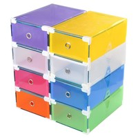 Shoe Organizer Drawer Transparent Plastic Shoe Storage Box Rectangle PP Thickened Shoes Organizer  Drawer Shoe Boxes