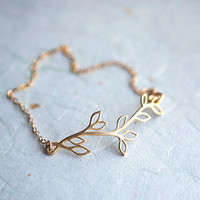Leaves 14k gold fill chain Bracelet pardes israel by pardes