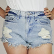 Infinity Ripped High Wasted Faded Shorts