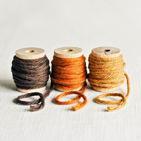 Thick Cotton Twine Naturals Pack - Chocolate Brown, Burnt Orange and Amber - 10 Yards Each