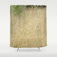 "Shower Curtain - 'Romance in the Filed' - 71"" x 74"" Home, Bathroom, Bath, Dorm, Girl, Decor, Fantasy, Abstract, Love, Beige, Soft, Christmas"