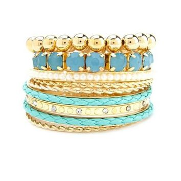 Gemstone Mix Bracelet Set: Charlotte Russe