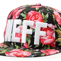 Neff Girls Black Floral Snapback Hat