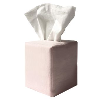 james tissue box cover in pink