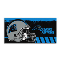 Carolina Panthers NFL Fiber Reactive Beach Towel (Gameplan Series) (28in x 58in)