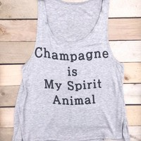 Champagne Is My Spirit Animal Tank Top