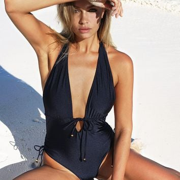 Cupshe Best Wishes Halter One-piece Swimsuit
