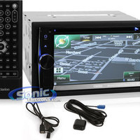 """Clarion NX602 Double-Din GPS Car Stereo w/ Bluetooth & 6.2"""" LCD"""