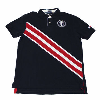 Vintage Tommy Hilfiger Red/White/Blue Polo Shirt Mens Size XL