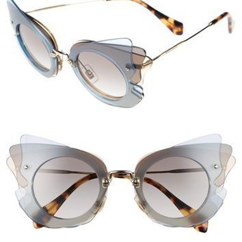 Miu Miu 63mm Butterfly Sunglasses | Nordstrom