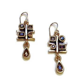 Patricia Locke Jewelry - Meditation Earrings in Tweed