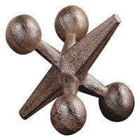 "Collected Notions Cast Iron Marbles Jack, Rust Finish, 6-1/4""L"